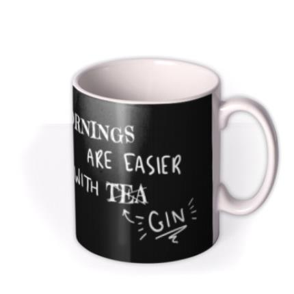 Mugs - Funny Mornings Are Easier With Tea Retro Mug - Image 2