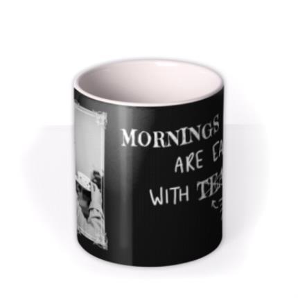 Mugs - Funny Mornings Are Easier With Tea Retro Mug - Image 3