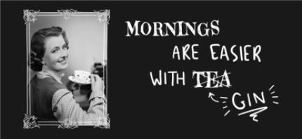 Mugs - Funny Mornings Are Easier With Tea Retro Mug - Image 4