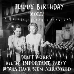 Greeting Cards - All The Important Details Have Been Arranged Happy Birthday Card - Image 1