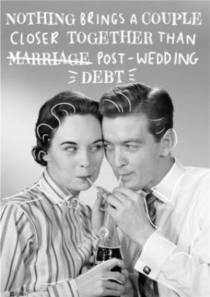 Greeting Cards - Laughing Stock Vintage Photo Wedding Joke Card - Image 1