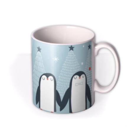 Mugs - Pair Of Penguins Christmas Mug - Image 2