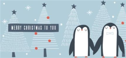 Mugs - Pair Of Penguins Christmas Mug - Image 4