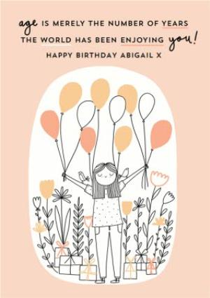 Greeting Cards - Balloon And Presents Birthday Card  - Image 1
