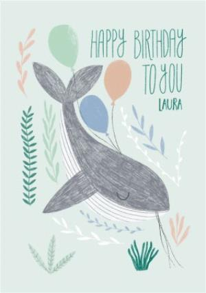 Greeting Cards - Birthday Card - Happy Birthday - Whale - The Sea - Image 1