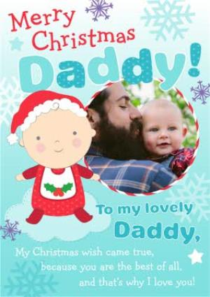 Greeting Cards - Merry Christmas To My Lovely Daddy Photo Card - Image 1