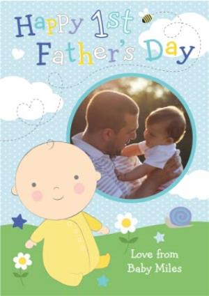 Greeting Cards - 1st Father's Day Photo Upload Card  - Image 1