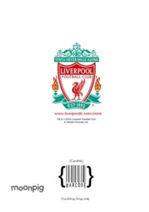 Greeting Cards - Liverpool FC Birthday Card -  You'll never walk alone  - Image 4