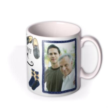Mugs - Father's Day Grandad Gentleman Photo Upload Mug - Image 2