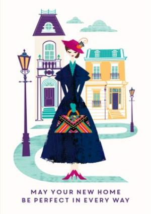 Greeting Cards - Mary Poppins perfect new home card - Image 1