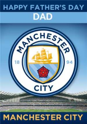 Greeting Cards - Manchester City Football Happy Father's Day Card - Image 1