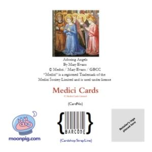 Greeting Cards - Adoring Angels Religious Personalised Merry Christmas Card - Image 4