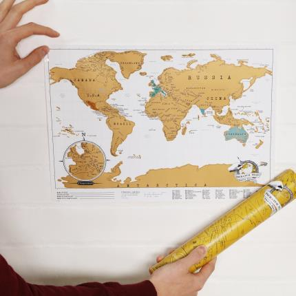 Gadgets & Novelties - Scratch Map Travel Edition - Image 1