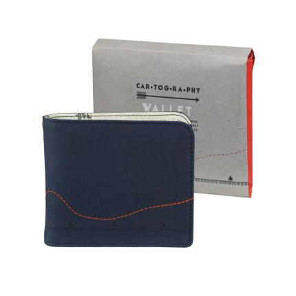 Gadgets & Novelties - Cartography Leather Wallet  - Image 1