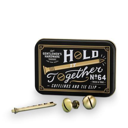 Gadgets & Novelties - Gentlemen's Hardware Cufflink & Tie Clip - Image 1