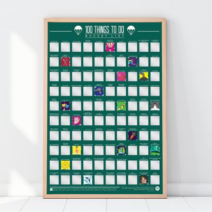 Gadgets & Novelties - Gift Republic 100 Things To Do Bucket List Scratch Off Poster - Image 1