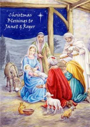 Greeting Cards - Mary Evans Christmas Blessings Card - Image 1
