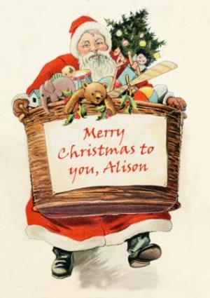 Greeting Cards - Mary Evans Merry Christmas To You Personalised Card - Image 1