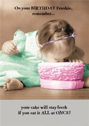 Greeting Cards - Birhday Card - Photo Humour - Birthday Cake - Image 1