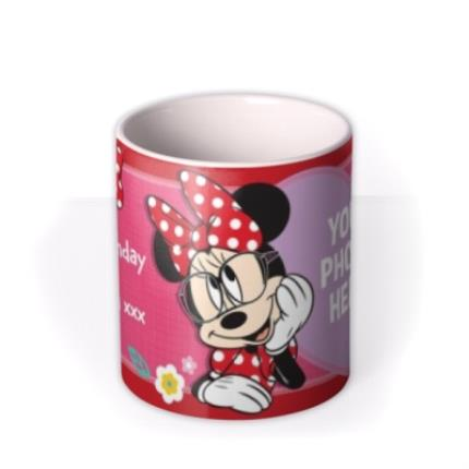 Mugs - Disney Minnie Mouse Glasses Photo Upload Mug - Image 3