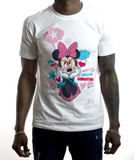 T-Shirts - Disney Minnie Mouse Hello Personalised Name T-Shirt - Image 2