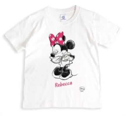 T-Shirts - Disney Minnie Mouse Sketch Design T-Shirt - Image 1