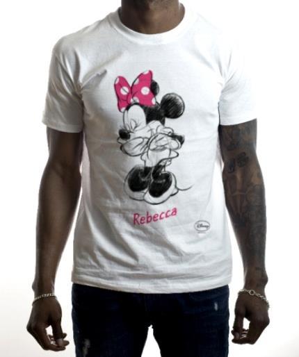 T-Shirts - Disney Minnie Mouse Sketch Design T-Shirt - Image 2