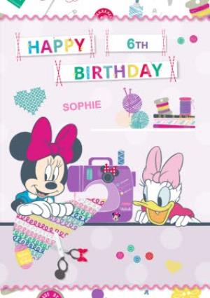Disney Minnie Mouse And Daisy Duck Happy Birthday Card