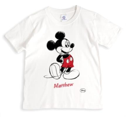 T-Shirts - Disney Mickey Mouse Sketch Personalised T-shirt - Image 1