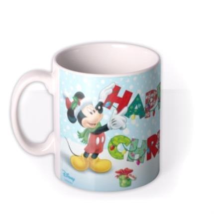 Mugs - Christmas Disney Minnie & Mickey Mouse Personalised Mug - Image 1