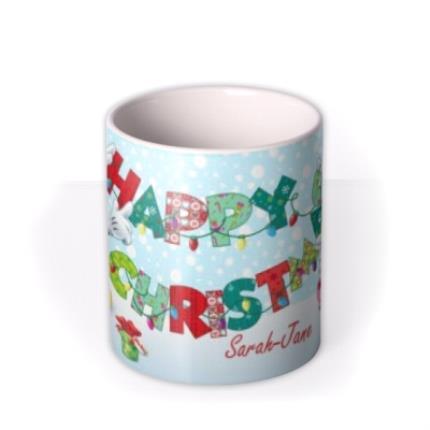 Mugs - Christmas Disney Minnie & Mickey Mouse Personalised Mug - Image 3