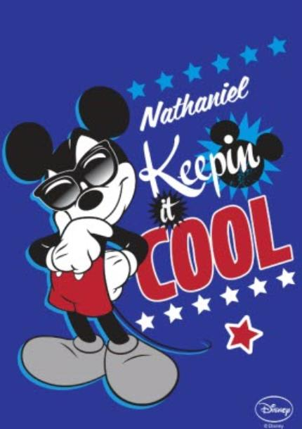 T-Shirts - Disney Mickey Mouse Keepin' It Cool Personalised T-shirt - Image 4
