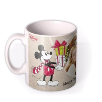 Mugs - Disney Mickey And Minnie Mouse Christmas Photo Mug - Image 1