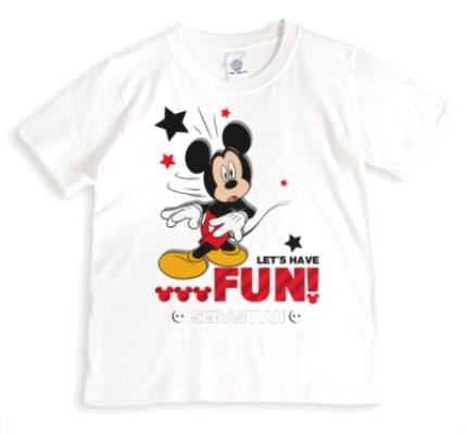 T-Shirts - Mickey Mouse Cool, Let's Have Fun Personalised T-shirt - Image 1