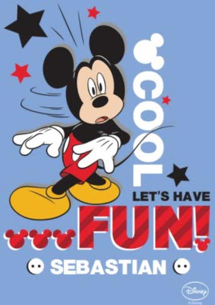 T-Shirts - Mickey Mouse Cool, Let's Have Fun Personalised T-shirt - Image 4