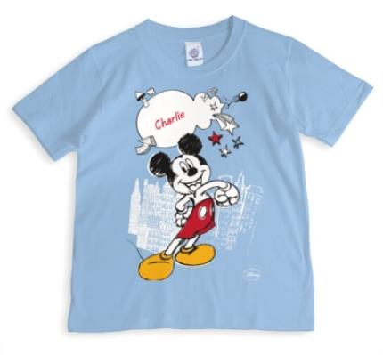 T-Shirts - Disney Mickey Mouse About Town Personalised T-shirt - Image 1