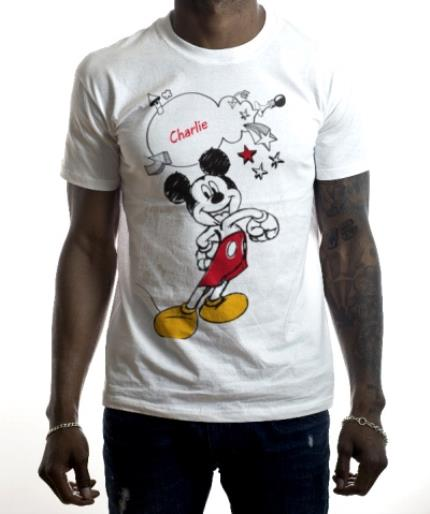 T-Shirts - Disney Mickey Mouse About Town Personalised T-shirt - Image 2