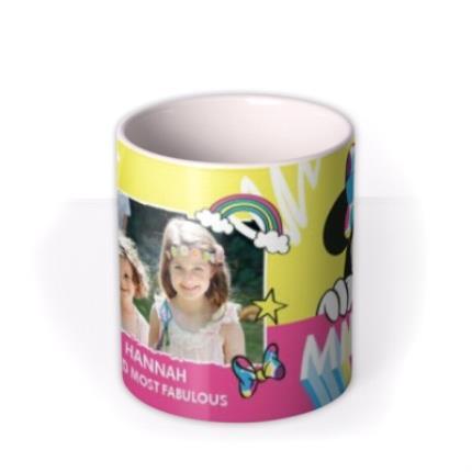 Mugs - Disney Minnie Mouse Neon Bright Custom Photo Mug - Image 3