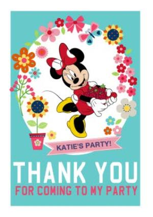 Greeting Cards - Minnie Mouse Thank You Party Card - Image 1