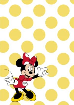 Greeting Cards - Minnie Mouse Thank You Party Card - Image 2