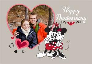 Greeting Cards - Minnie & Micky Mouse Photo Anniversary Card - Image 1