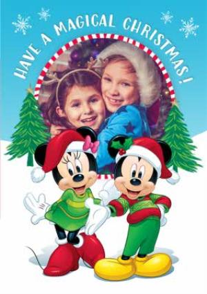 Disney Mickey And Minnie Mouse Magical Christmas Card Moonpig