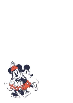 Greeting Cards - Mickey & Minnie Mouse Husband Photo Upload Birthday Card  - Image 2