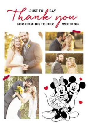 Greeting Cards - Mickey And Minnie Mouse Thank you for Coming Photo Upload Card  - Image 1