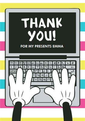 Mickey Mouse Personalised Thank You Card Moonpig
