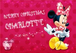 Greeting Cards - Minnie Mouse Christmas Card - Image 1