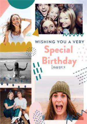 Collage Photo Upload Special Birthday Card