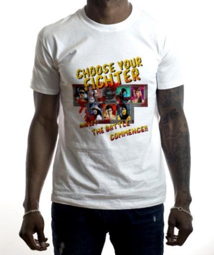 T-Shirts - Mortal Kombat Klassic gaming choose your fighter optional photo upload birthday T shirt - Image 2