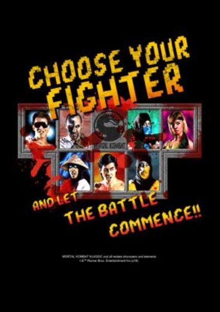 T-Shirts - Mortal Kombat Klassic gaming choose your fighter optional photo upload birthday T shirt - Image 4