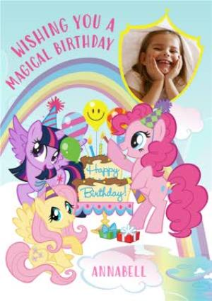 My Little Pony Photo Birthday Card